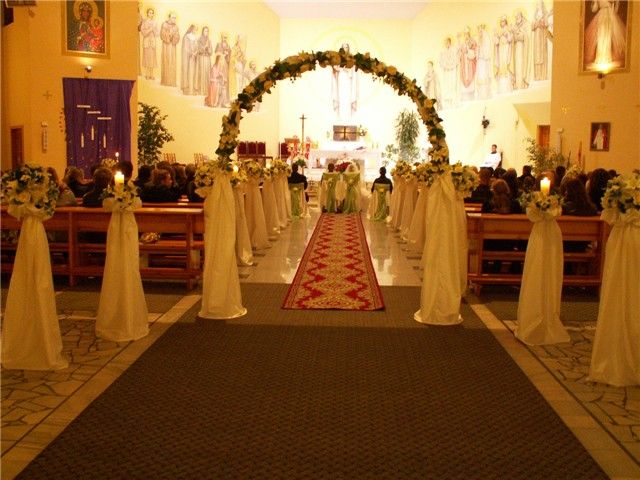 Dekoracja kościoła 8